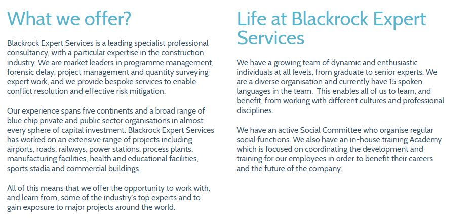 WHAT WE OFFER BLACKROCK