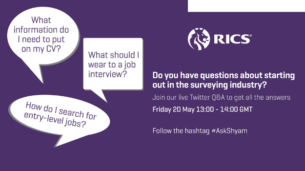 RICS Recruit Twitter Q&A: Graduate Surveying Advice